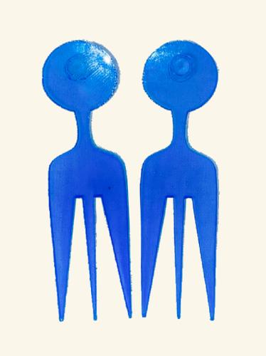 Blue Signature Ilari Comb Earrings