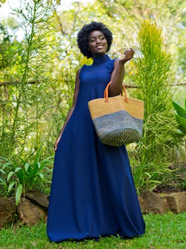 Blue – Beige Kiondo Bag