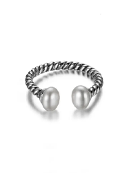 Imitation Pearl Open Ring